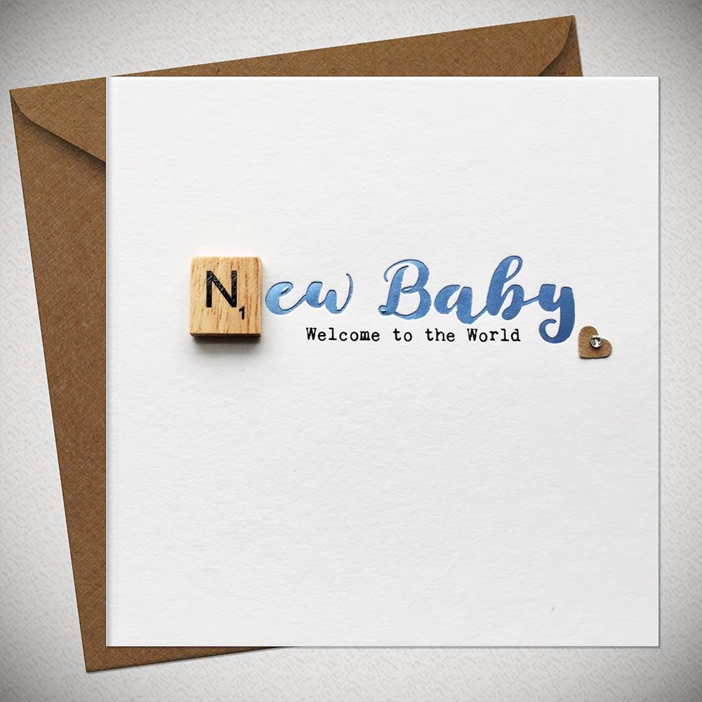 New Baby Boy - Welcome to the World Card - Chic Petit