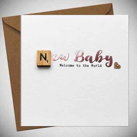 New Baby Girl - Welcome to the World Card - Chic Petit