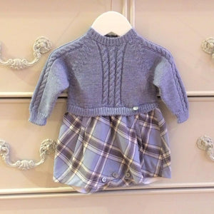 Oil Blue Check Shortie / Romper Outfit - Chic Petit