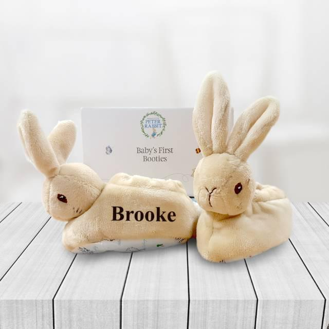 Personalised Peter Rabbit Booties - Chic Petit