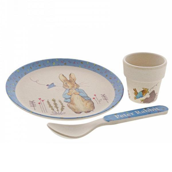 Peter Rabbit Egg Cup Bamboo Dinner Set - Chic Petit