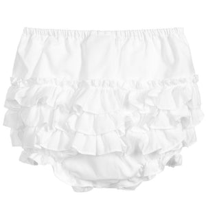 Sarah Louise Frilly Knickers - White - Chic Petit