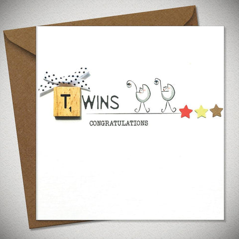 Twins – Congratulations Card - Chic Petit