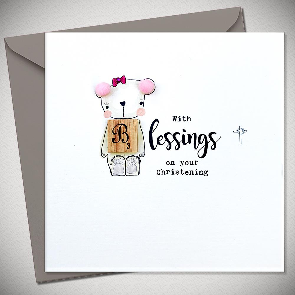 With Blessings (Girl) - On Your Christening - Chic Petit