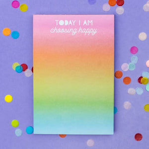 Choose Happy 4x6 Notepad