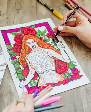 Drag Queen Coloring Book