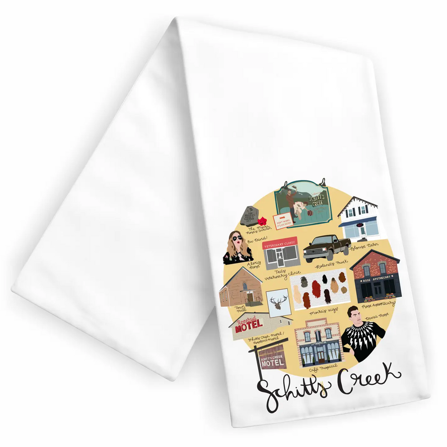 Schitty Town Tea Towel