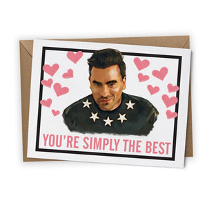"""Simply the Best"" Greeting Card"