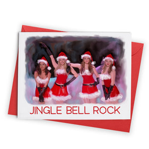 Jingle Bell Rock Girls Greeting Card