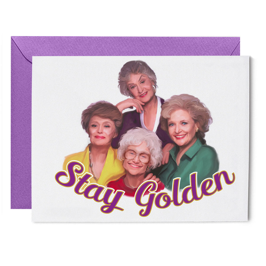 """Stay Golden"" Greeting Card"