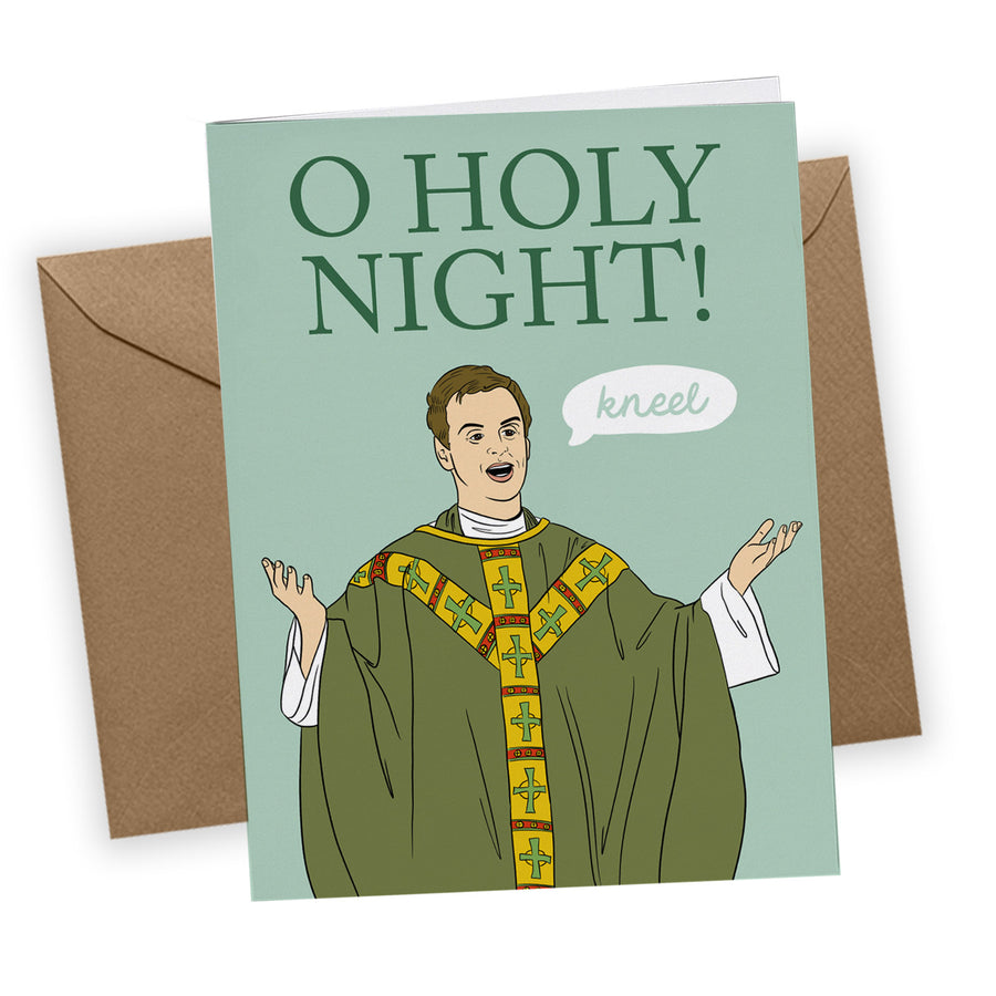 Hot Priest Greeting Card