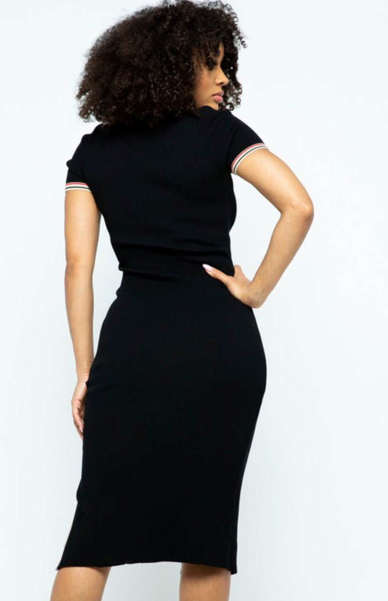 Keep It Classy Black Midi Dress