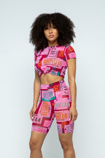 PINK MESH TWO PIECE SET