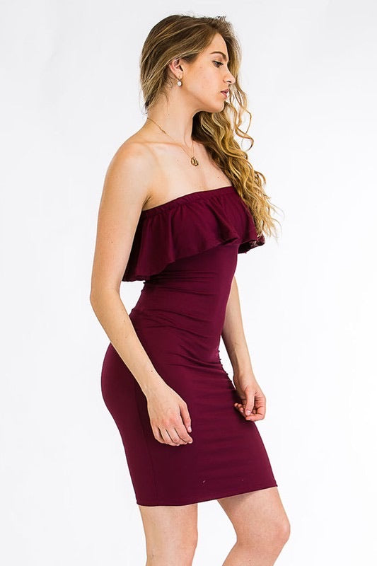 Strapless Ruffle Dress