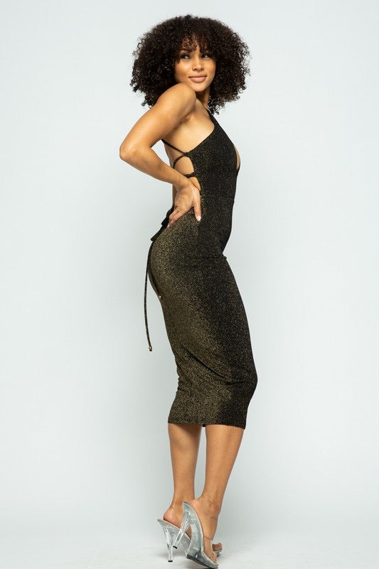 Daisy Black Mesh Dress