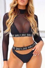 Lovely Black Swimsuit Set