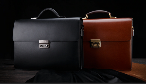 Branded Leather Briefcase