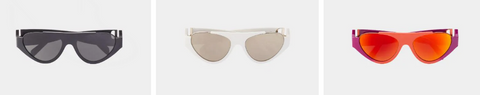 Inverted Half Rim Sunglasses