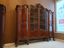 BEAUTIFUL WALNUT LIBRARY OF NEOROCOCO - RARITY - Vintage Clock Face