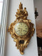 IMPRESSIVE GILDED WALL CLOCK IN ROCOCO REVIVAL STYLE - Vintage Clock Face