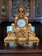 UNIQUE MANTEL CLOCK – GILDED WOOD - Vintage Clock Face