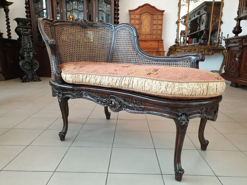 CABINET-PRESERVED IMPRESSIVE CHAISE LONGUE – ROCOCO REVIVAL - Vintage Clock Face