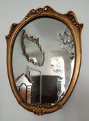 ELEGANT SMALL MIRROR IN A GILDED FRAME – NEO-ROCOCO - Vintage Clock Face