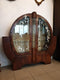 AUNIQUE, CUSTOM-MADE GLASS CABINET – WALNUT – ART DECO - Vintage Clock Face