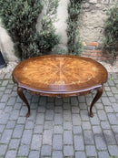 Chippendale Style Marquetry Coffee Table - Vintage Clock Face