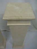 A PAIR OF MARBLE COLUMNS (POSTUMENTS) - Vintage Clock Face