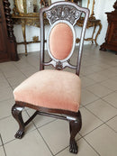 A DIGNIFIED SUITE OF LIVING ROOM FURNITURE - TABLE AND CHAIRS - NEO-RENAISSANCE - Vintage Clock Face