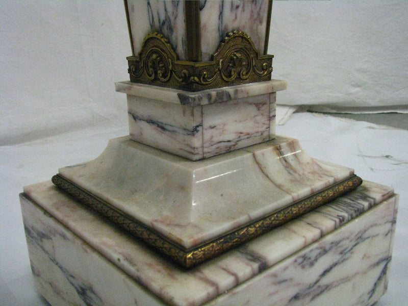 COLUMN (POSTUMENT), MARBLE 20th - Vintage Clock Face