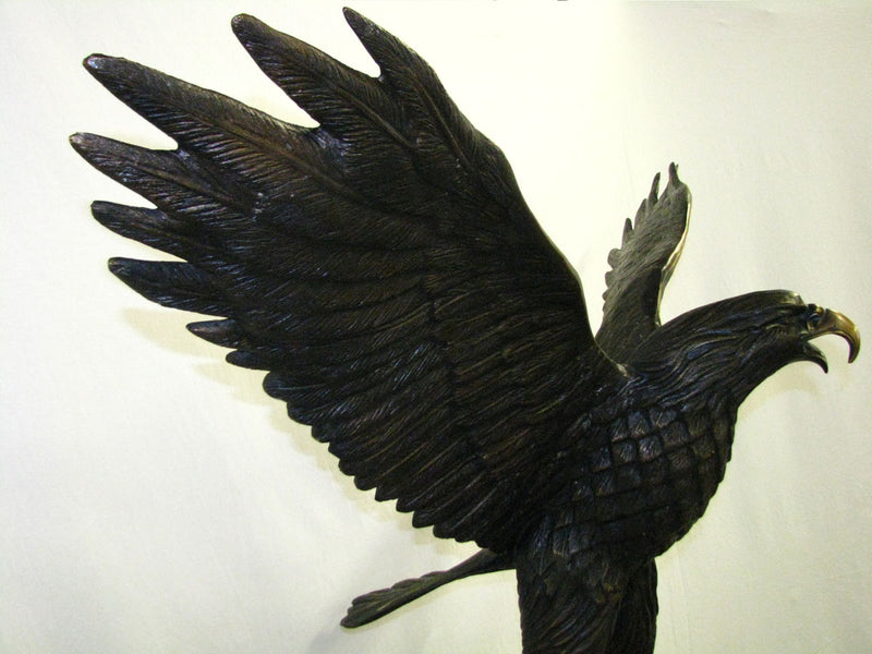 French Art Nouveau Style Bronze EAGLE Statue, Cibardie - Vintage Clock Face