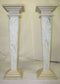A PAIR OF MARBLE COLUMNS (POSTUMENTS) - SLIM -carrara and ecru - Vintage Clock Face