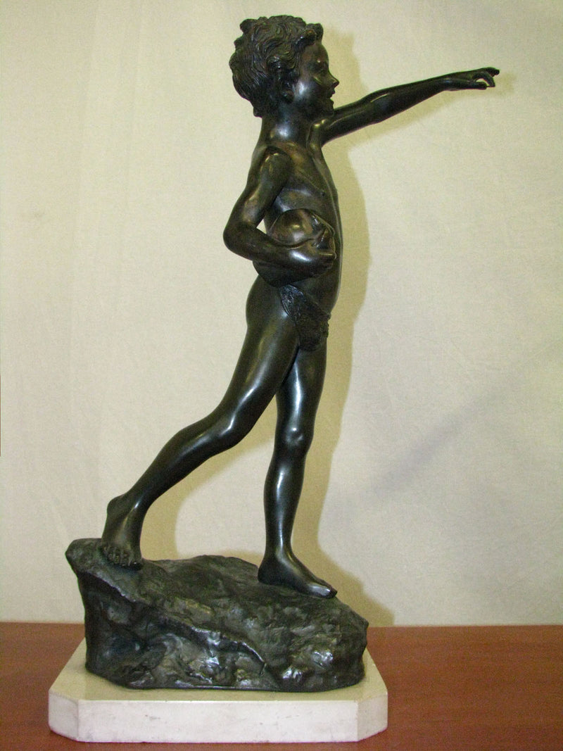 ITALY SCULPTURE BOY 20TH - Vintage Clock Face