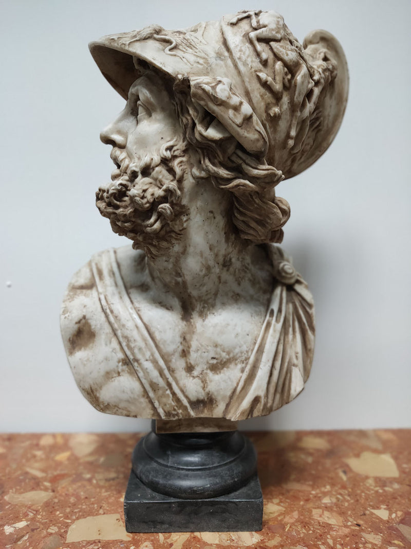 Bust of Athenian Leader Militiades the Younger - Aglomarble - Vintage Clock Face
