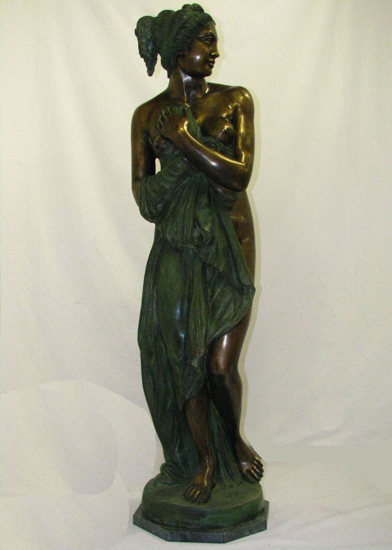 "SCULPTURE ""Women after the bath"", Big Bronze - Antonio Canova - Vintage Clock Face"