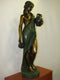 GIRL SCULPTURE with two antique amphoras. Big bronze - Vintage Clock Face