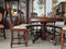 UNUSUAL SET OF LIVING ROOM - FOLDING TABLE WITH CHAIRS - RENAISSANCE, LIONS - Vintage Clock Face