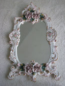 THE UNUSUAL PORCELAIN CONSOLE WITH A MIRROR - A RARITY – ROCOCO - Vintage Clock Face