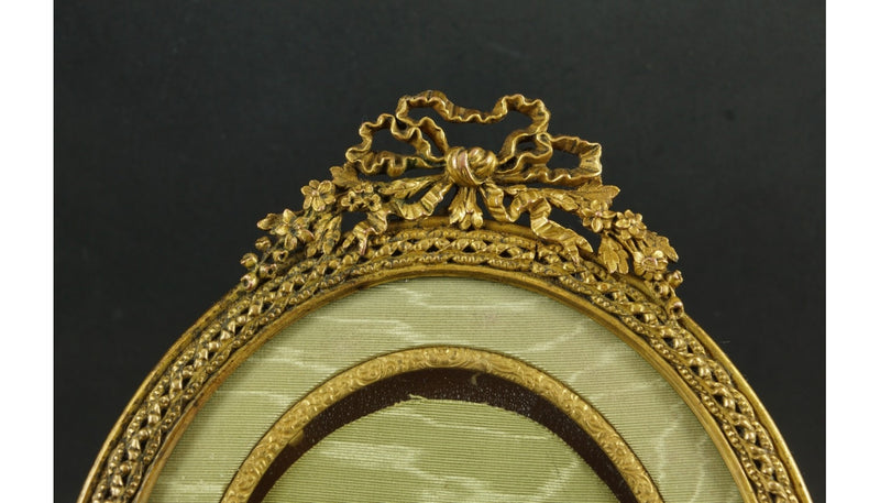 Napoleon III Style Bronze Oval Picture Frame, Second Half of the 19th Century - Vintage Clock Face