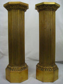 Italian Pair Of Columns / Pedestals / Stands - Vintage Clock Face