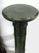20th Century Marble Column Pedestal - Vintage Clock Face
