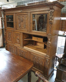 MUSEUM CLASS CABINET / DINING ROOM / LIVING ROOM - NEO-RENAISSANCE - 1st half of the 19th century. - Vintage Clock Face