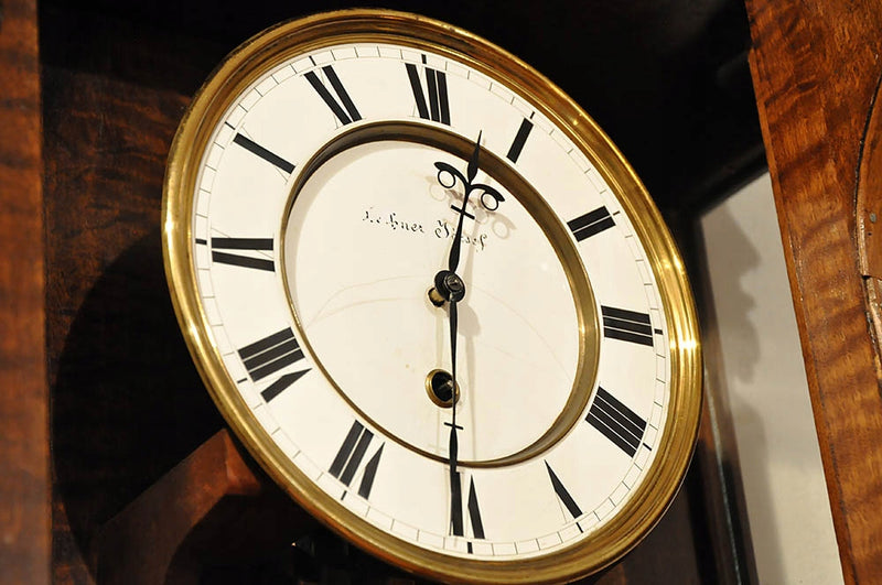 "Antique Wall Clock ""LECHNER JÓZSEF - PESTEN"" 49-day walk! RARITY 184 cm - Vintage Clock Face"
