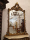 INTERESTING AND REPRESENTATIVE CONSOLE WITH A MIRROR - NEOROCOCO – GILDED - Vintage Clock Face