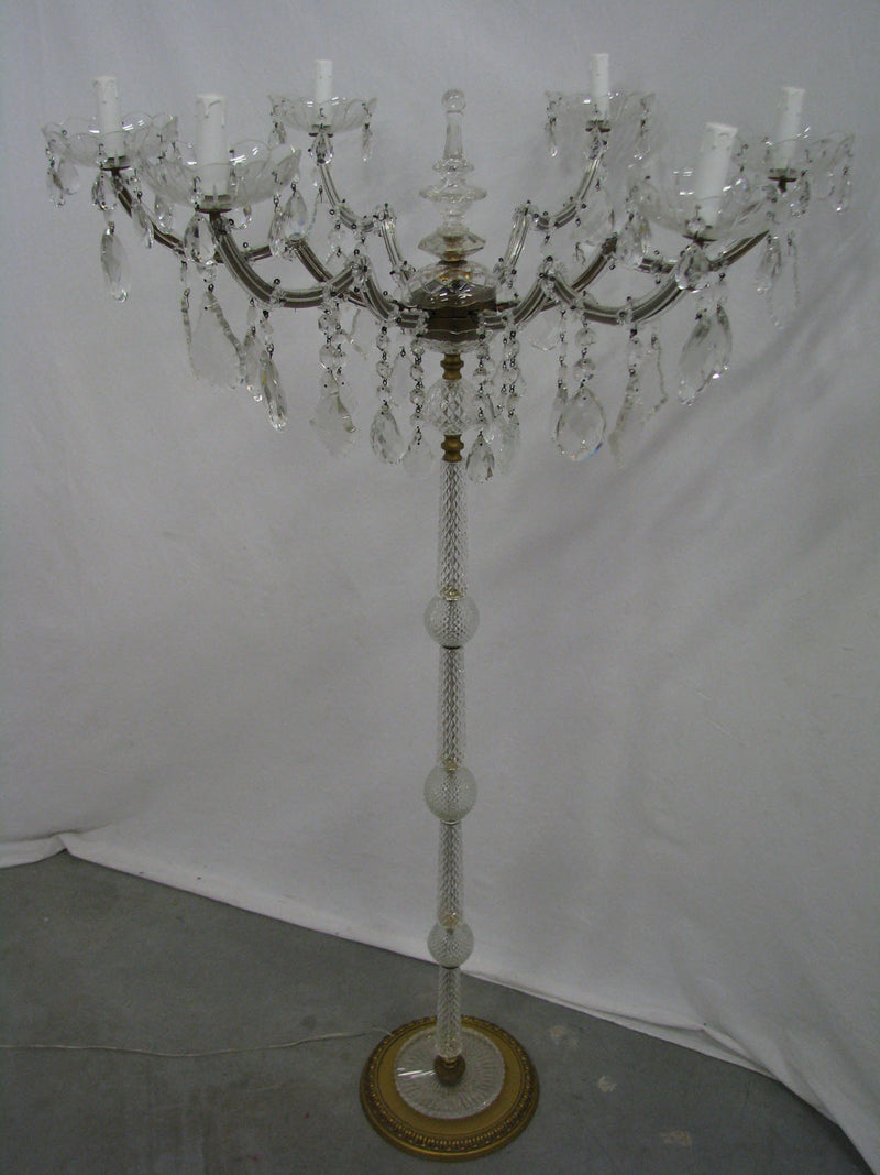 MARIA THERESA 6 LIGHT CHANDELIER-STYLE ITALIAN  FLOOR LAMP - Vintage Clock Face