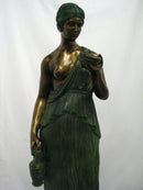 "SCULPTURE ""GIRL WITH  JUG OF WINE"", Big Bronze - Antonio Canova - Vintage Clock Face"