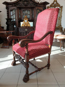 A NOBLE AND STUNNING ARMCHAIR – so-called Throne – ideal for a desk - Vintage Clock Face