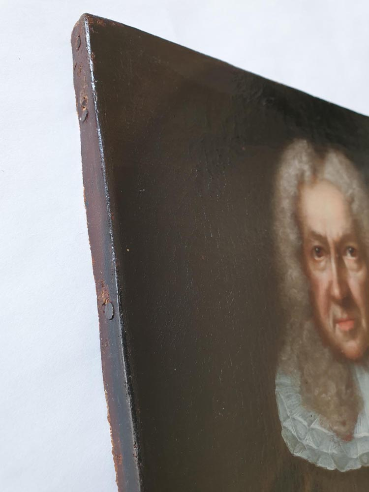"MASTERFULLY PAINTED BAROQUE ""PORTRAIT OF THE NOTABLE"" - the first half of the 17th century. - Vintage Clock Face"